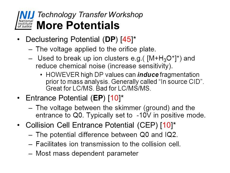 More Potentials Declustering Potential (DP) [45]*